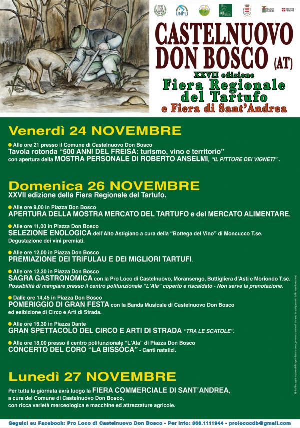 Fiera Regionale del Tartufo 2017 a Castelnuovo Don Bosco
