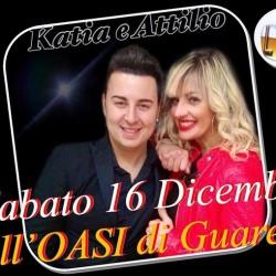 Questa sera KATIA e ATTILIO all'OASI di Guarene!