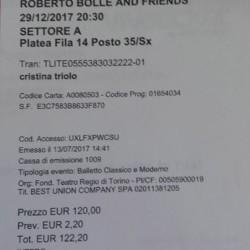 Biglietto balletto Roberto bolle €122 - Milpa Alta, CDMX Vendesi...