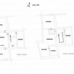Grande appartamento su due piani nel centro storico di Camporosso....