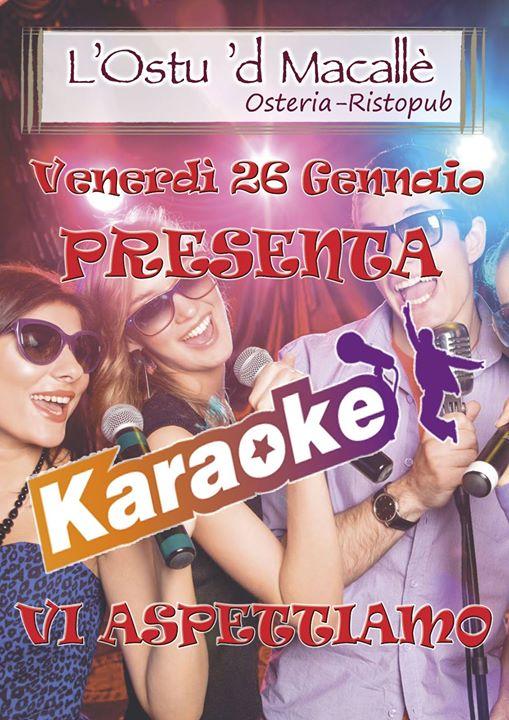 Karaoke e per chi ha piacere a ci sarà cucina greca, prenotare!