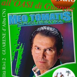 Questa sera MEO TOMATIS all'OASI di Guarene!
