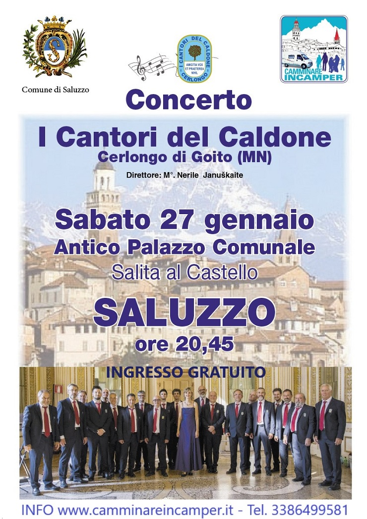 Concerto de I Cantori del Caldone a Saluzzo