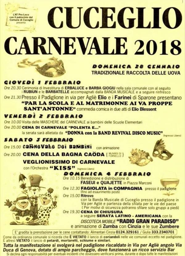 Carnevale di Cuceglio 2018