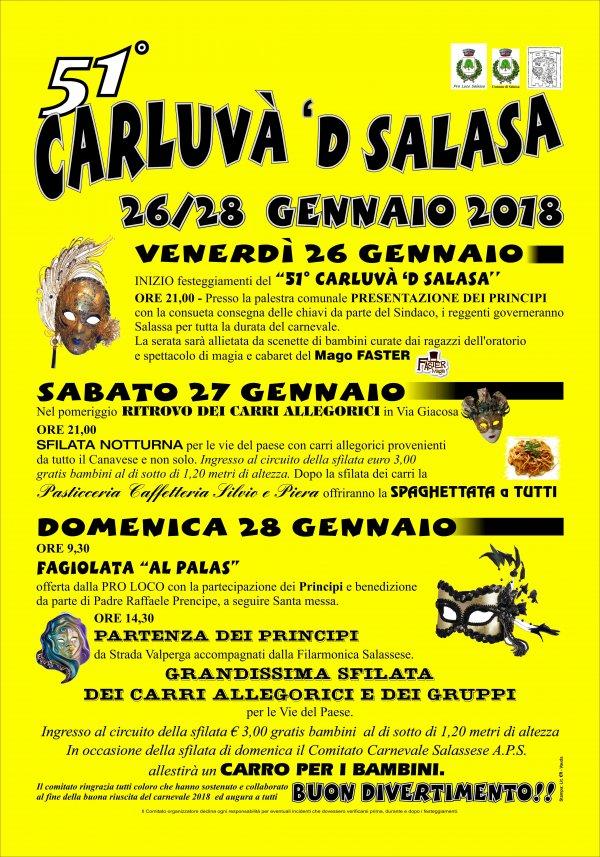 Carluvà 'd Salasa 2018 - Carnevale di Salassa