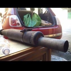 Scarico artigianale €90 - Bra Era montato sotto un 205...