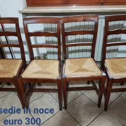4 SEDIE IN NOCE NAZIONALE NUOVE €300 - Cuneo 4...
