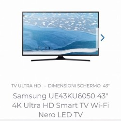 "Tv samsung 43"" 4k ultraHD led Saluzzo €350 - Chatham,..."