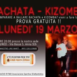 Lunedì 19 Marzo alle 20.00 entra nel mondo della Kizomba...
