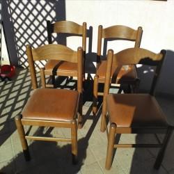 4 sedie in legno robuste €50 - Madonna Pilone contattare...