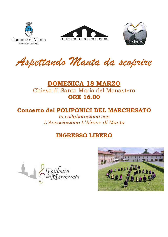Aspettando Manta da Scoprire 2018 - Concerto dei Polifonici del Marchesato