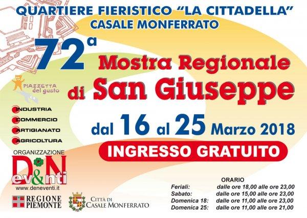Mostra Regionale di San Giuseppe 2018 a Casale Monferrato