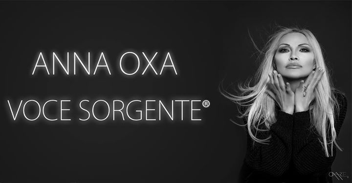 """ANNA OXA - Voce sorgente tour """"Anima festival 2018"""""""