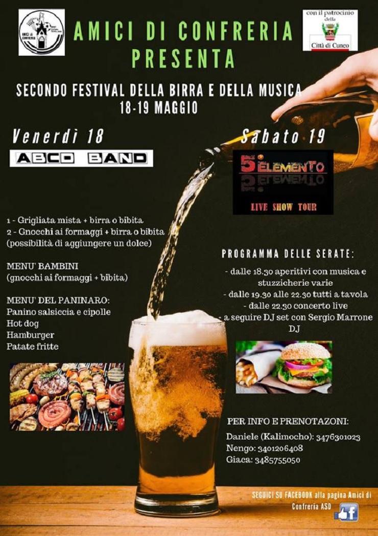 Festival della birra e della musica 2018 a Confreria di Cuneo