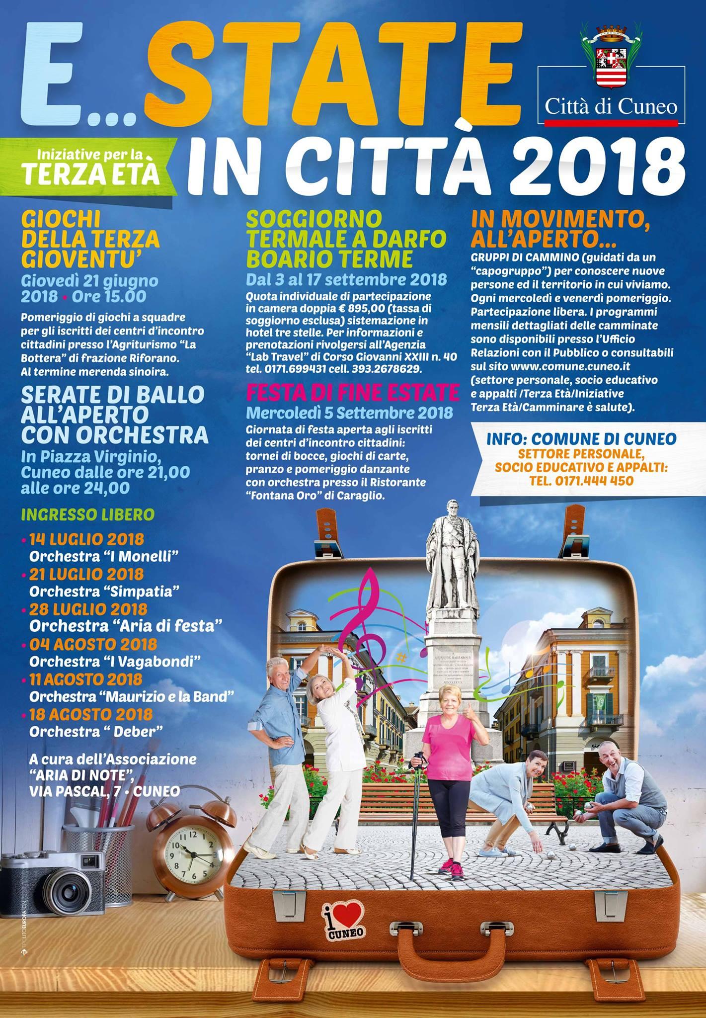 E... state in città 2018 - Iniziative per la terza età a Cuneo