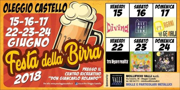 Festa della Birra 2018 a Oleggio Castello