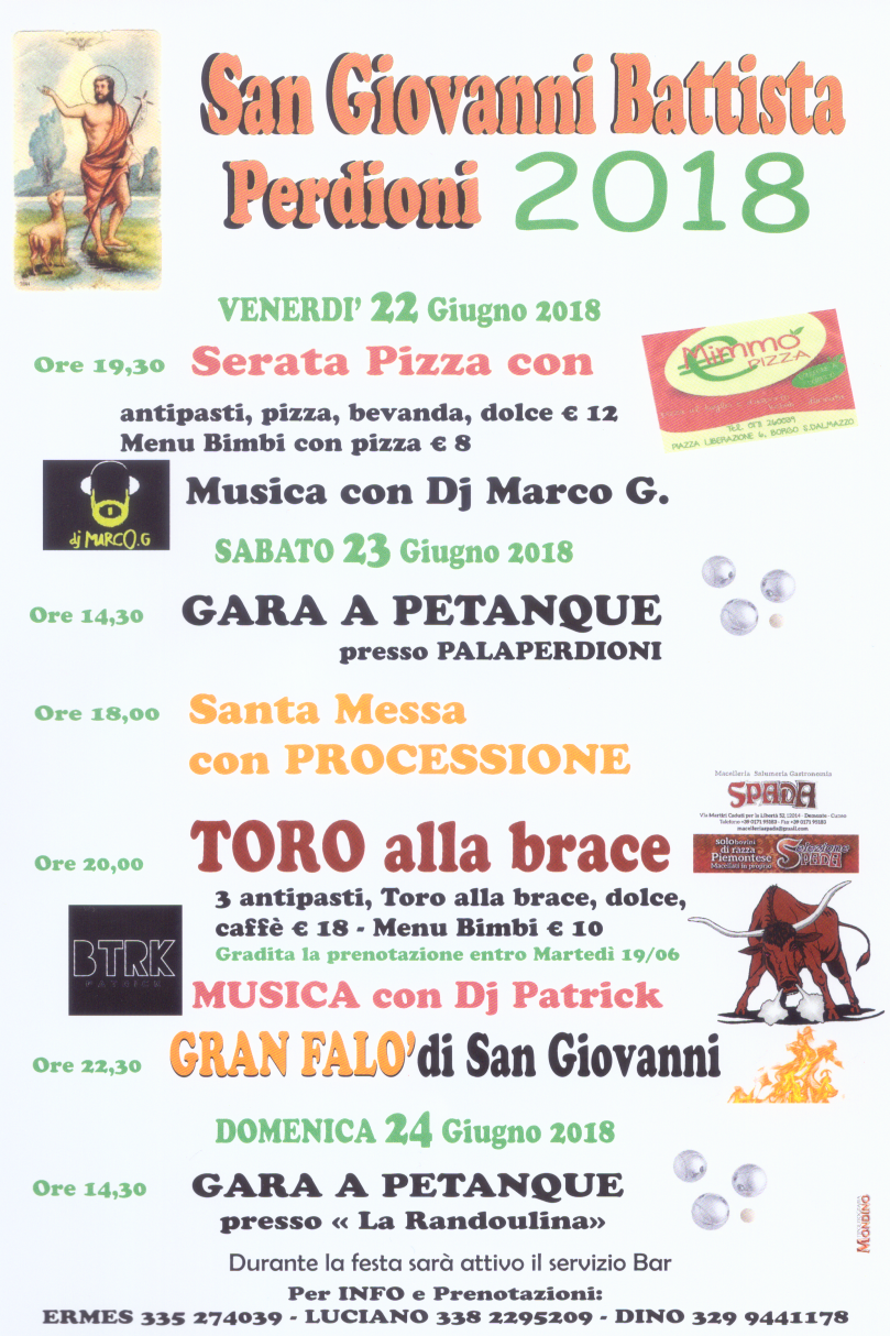 Festa di San Giovanni Battista in Perdioni 2018 a Demonte