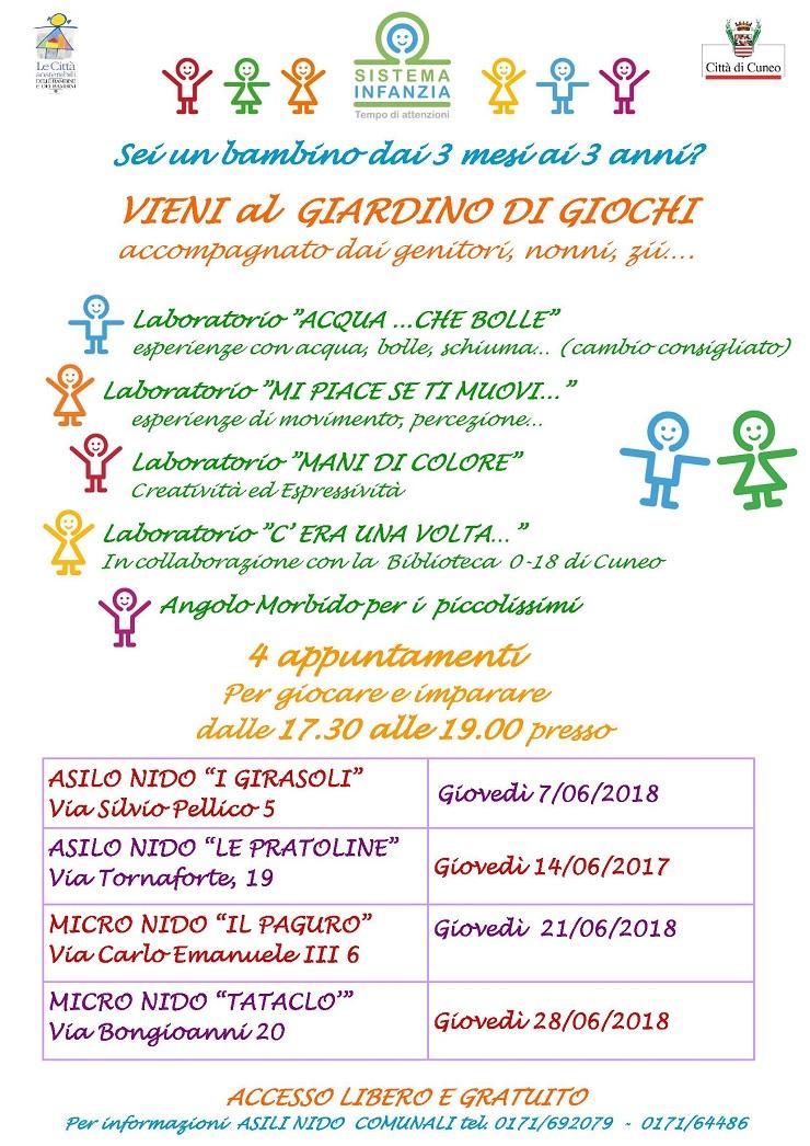 Giardino di giochi 2018 a Cuneo