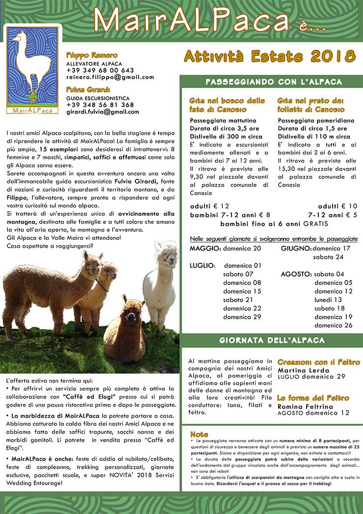 Giornata dell'alpaca a Canosio
