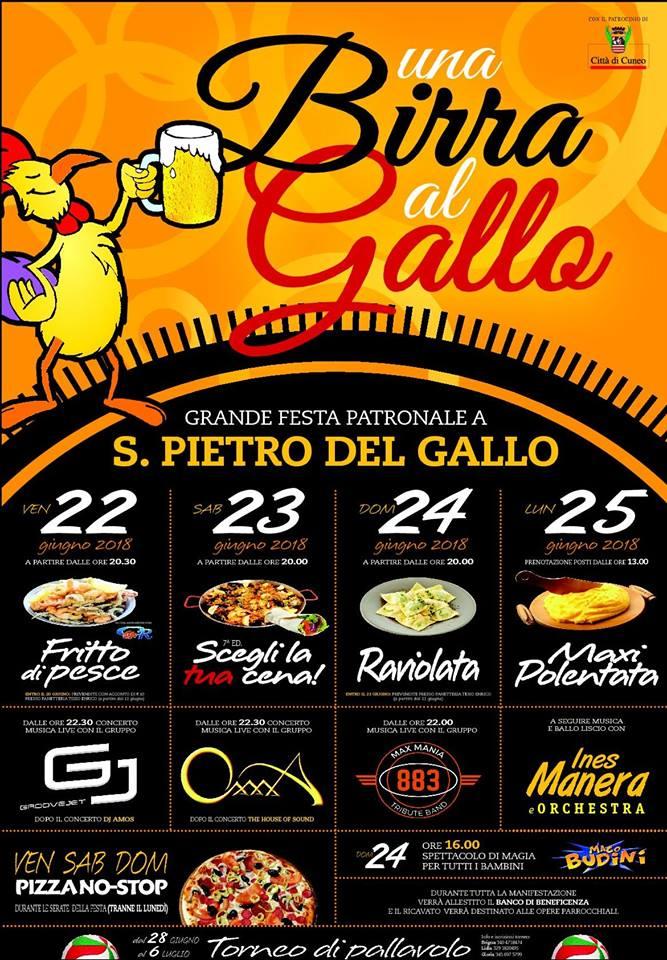 Una Birra al Gallo 2018 a San Pietro del Gallo di Cuneo