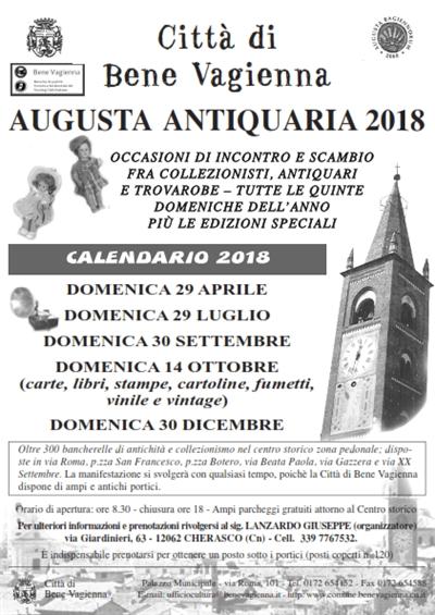 Augusta Antiquaria 2018 a Bene Vagienna