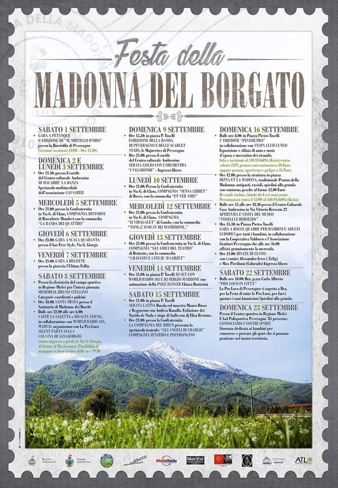 Festa della Madonna del Borgato 2018 a Peveragno