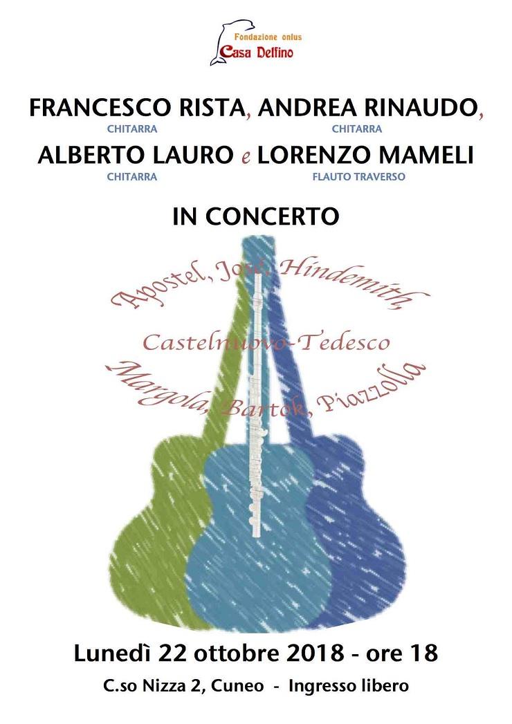 Concerto alla Fondazione Casa Delfino di Cuneo