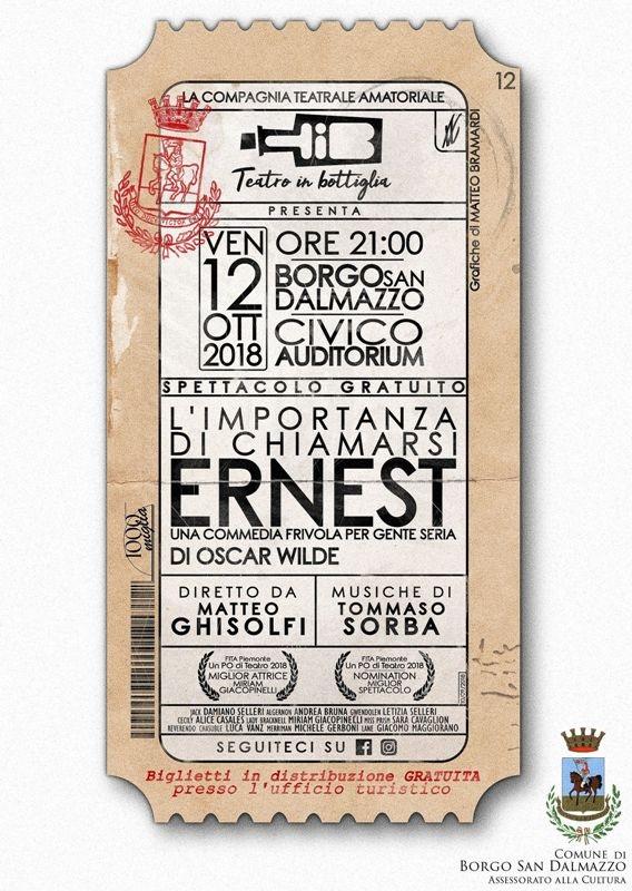L'importanza di chiamarsi Ernest a Borgo San Dalmazzo