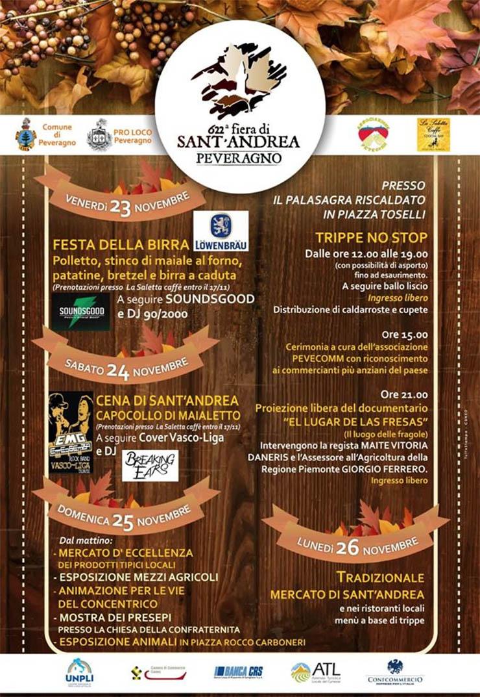 Fiera di Sant'Andrea 2019 a Peveragno