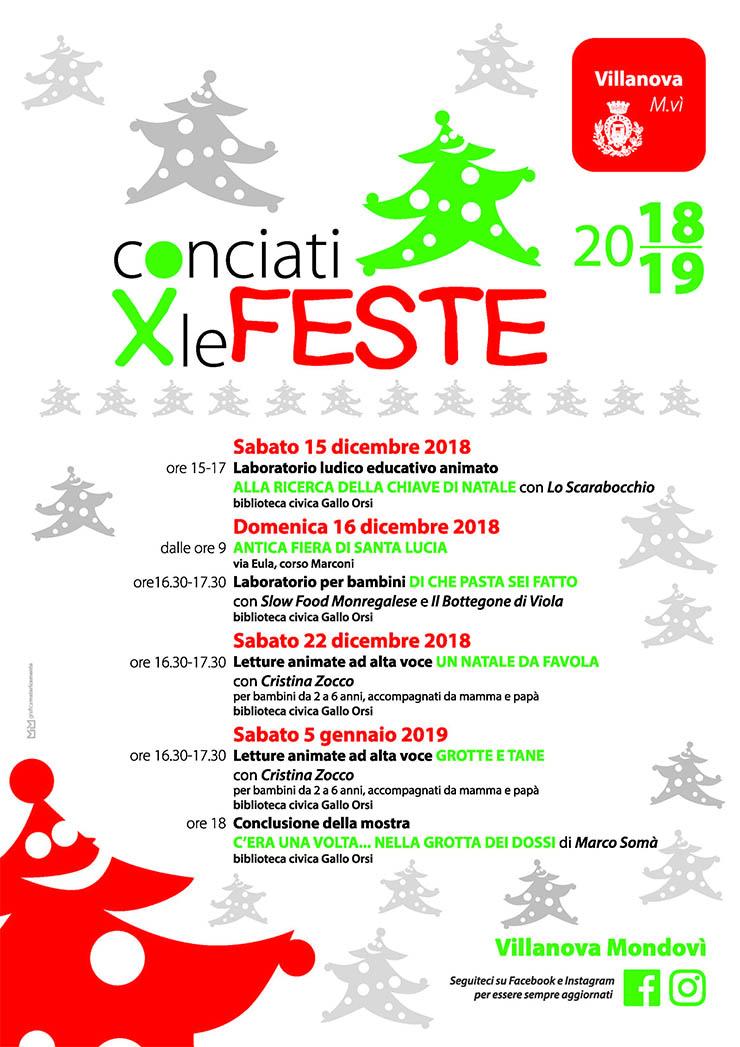 Conciati per le Feste 2018/2019 a Villanova Mondovì