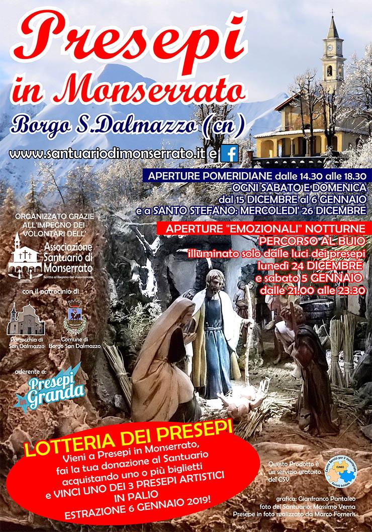 Presepi in Monserrato 2018/2019 a Borgo San Dalmazzo