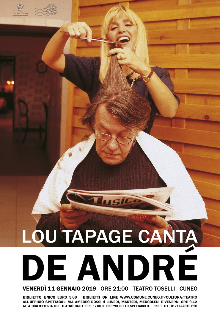 Cuneo: Lou Tapage canta De Andrè al Teatro Toselli