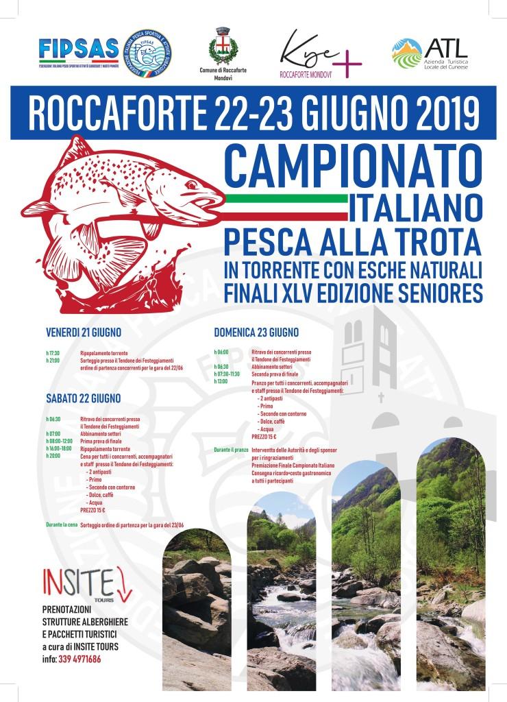 ROCCAFORTE MONDOVI': Campionato italiano di pesca Valle Ellero 2019