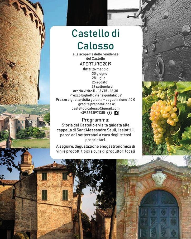 CALOSSO (AT): Apertura del Castello di Calosso 2019