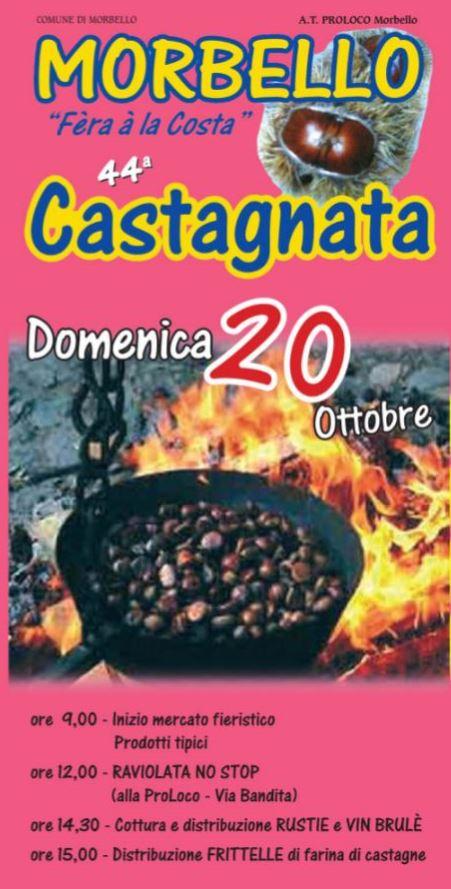 MORBELLO (AL): Castagnata 2019