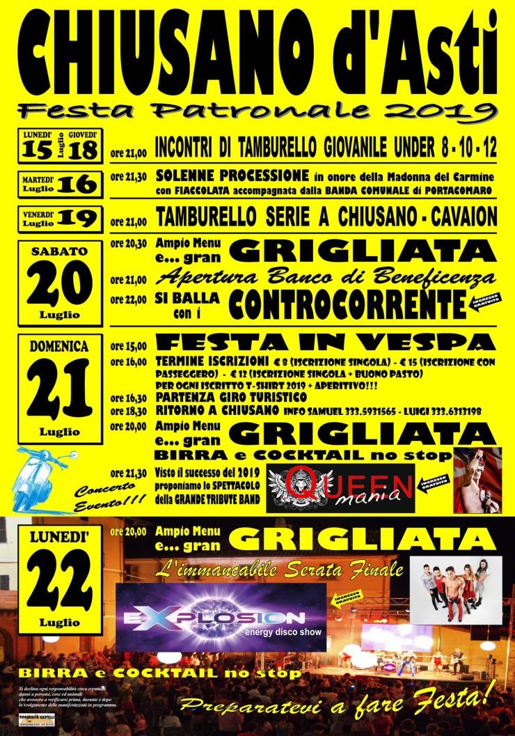 CHIUSANO D'ASTI: Festa patronale 2019
