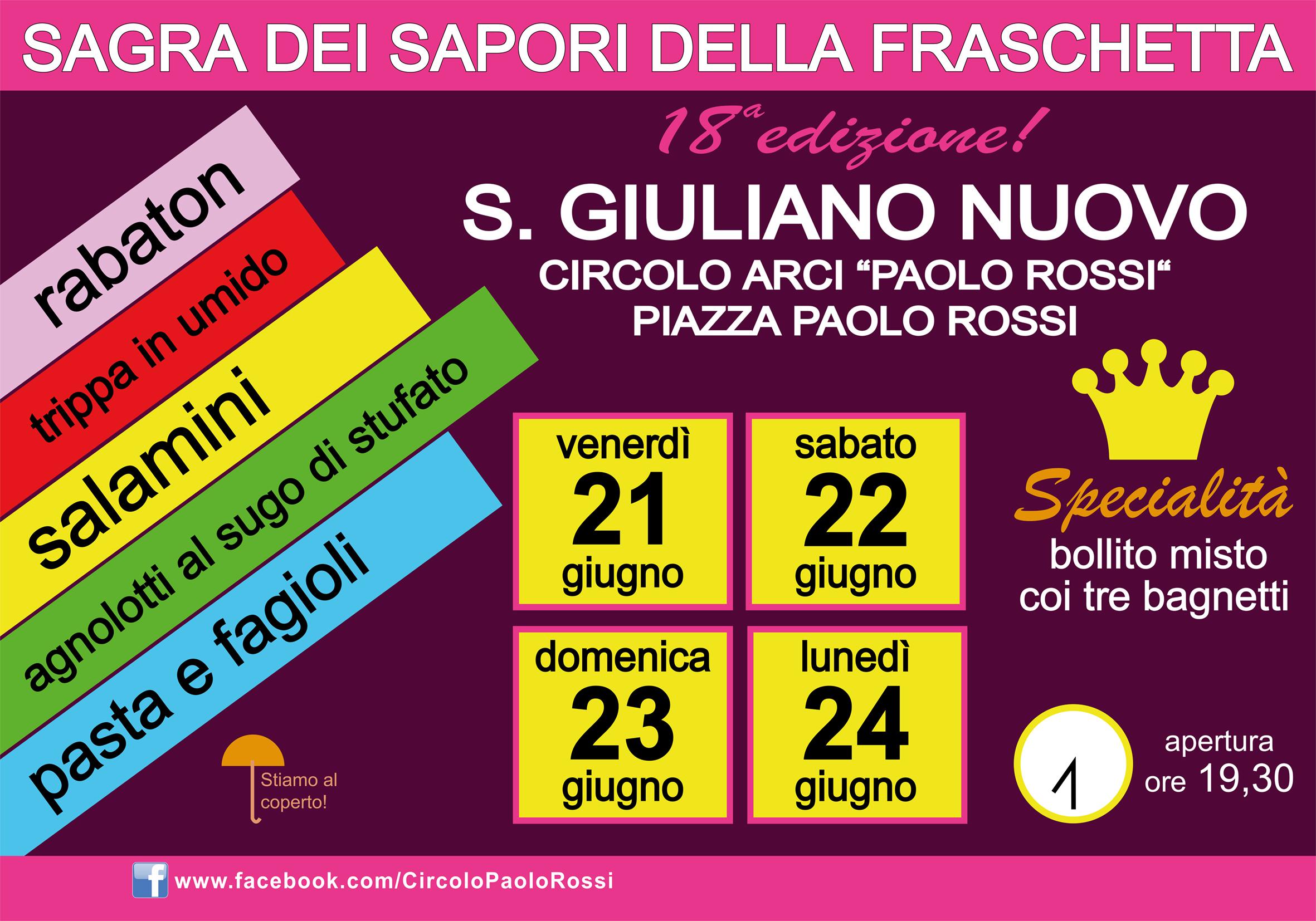 ALESSANDRIA: Sagra dei Sapori della Fraschetta 2019 a San Giuliano Nuovo