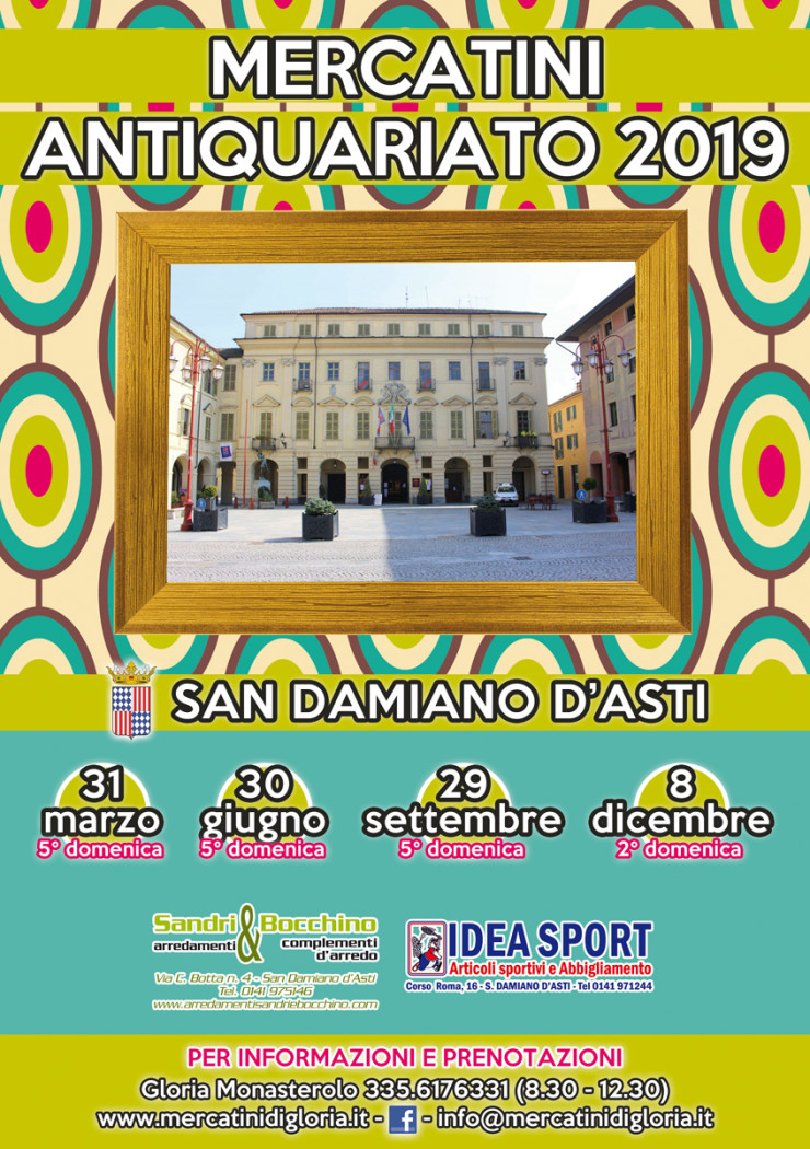 SAN DAMIANO D'ASTI (AT): Mercatino di antiquariato 2019