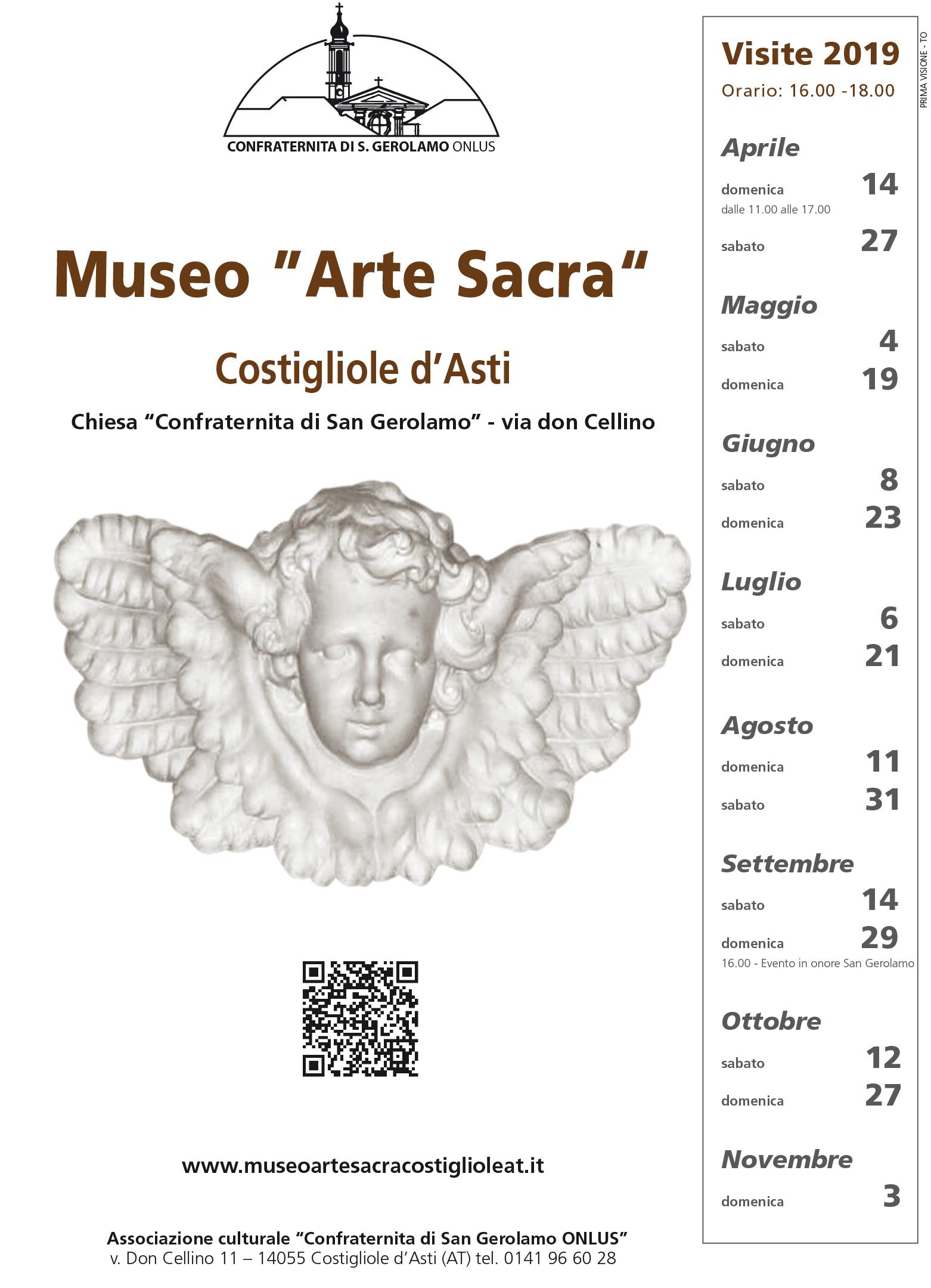 """COSTIGLIOLE D'ASTI: Visita al museo """"Arte Sacra"""""""