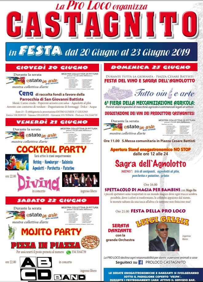 CASTAGNITO: Festa patronale di San Giovanni Battista 2019