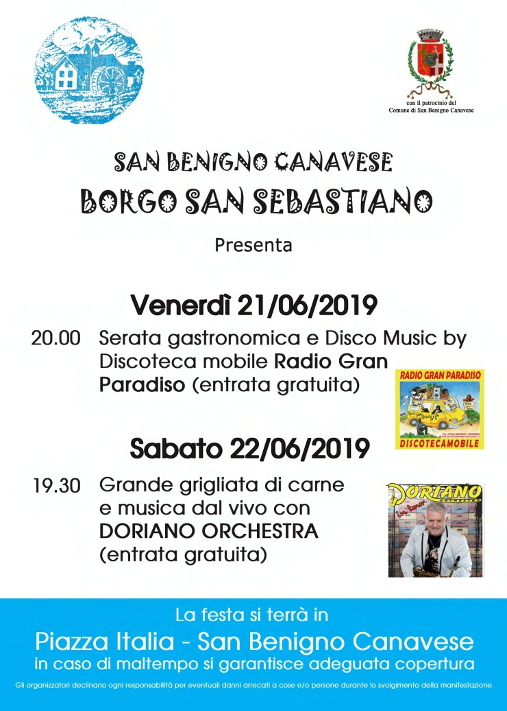 SAN BENIGNO CANAVESE (TO): Festa Del Borgo San Sebastiano 2019