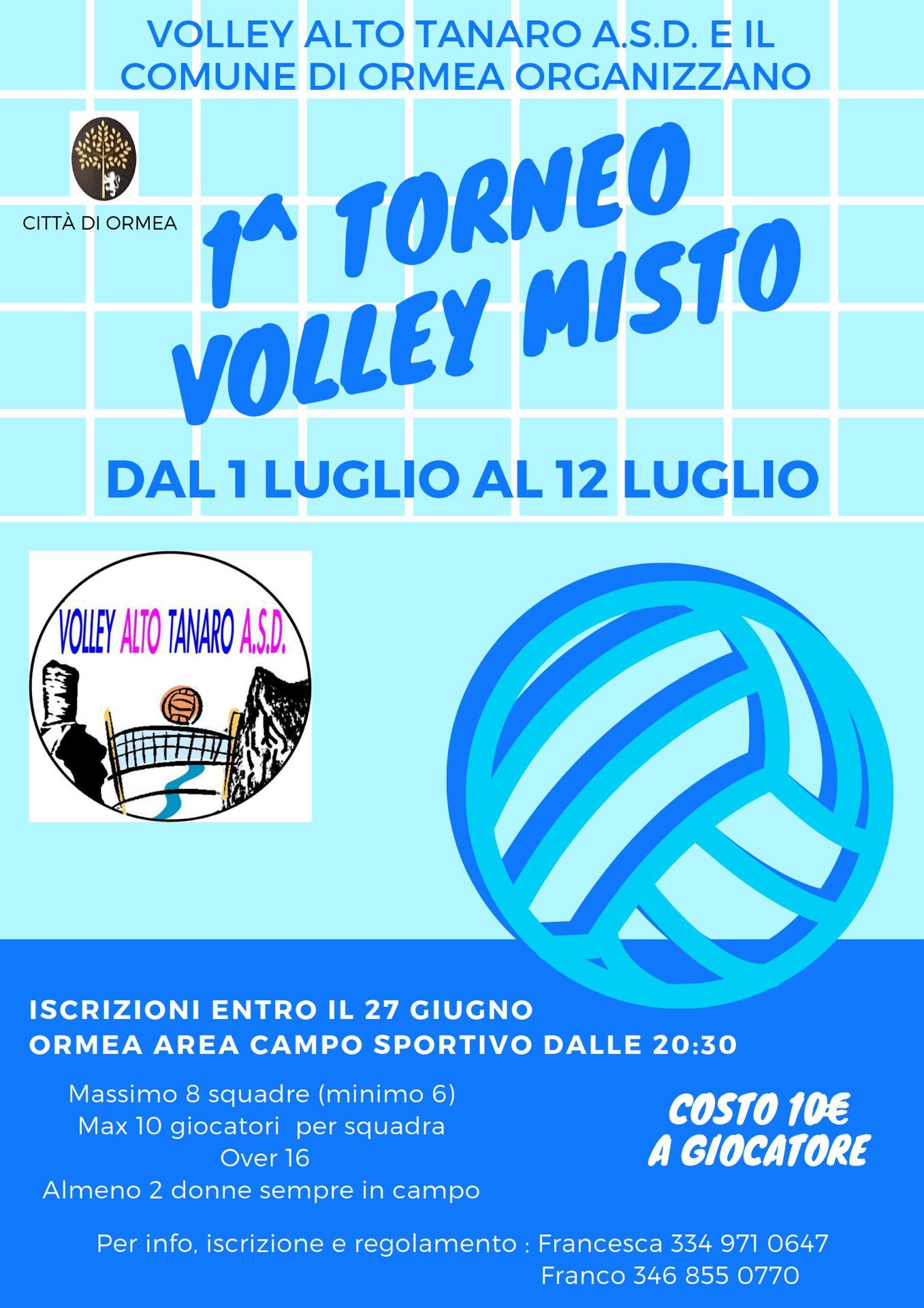 ORMEA: Torneo volley misto 2019