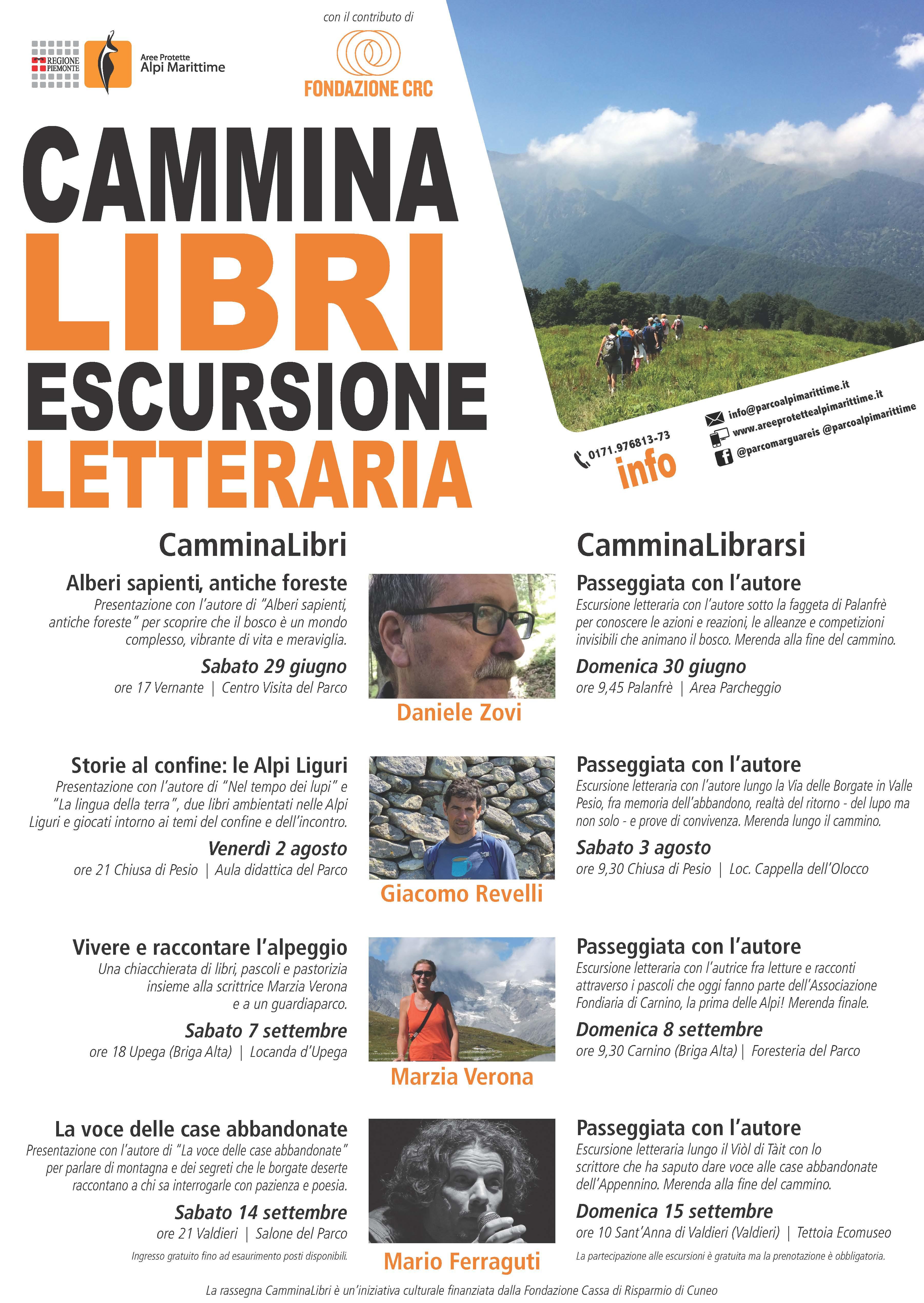 VALDIERI: Cammina Libri 2019 con Mario Ferraguti a Sant'Anna