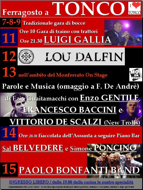 TONCO (AT): Ferragosto 2019 a Tonco