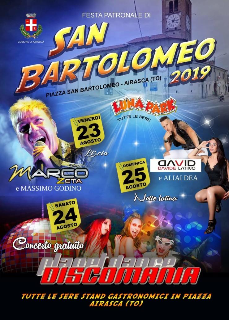 AIRASCA (TO): Festa di San Bartolomeo 2019