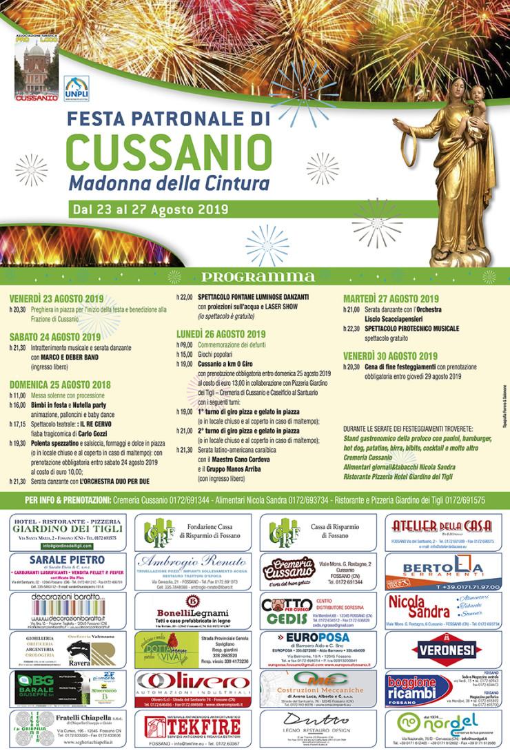 FOSSANO: Festa della Madonna della Cintura 2019 a Cussanio