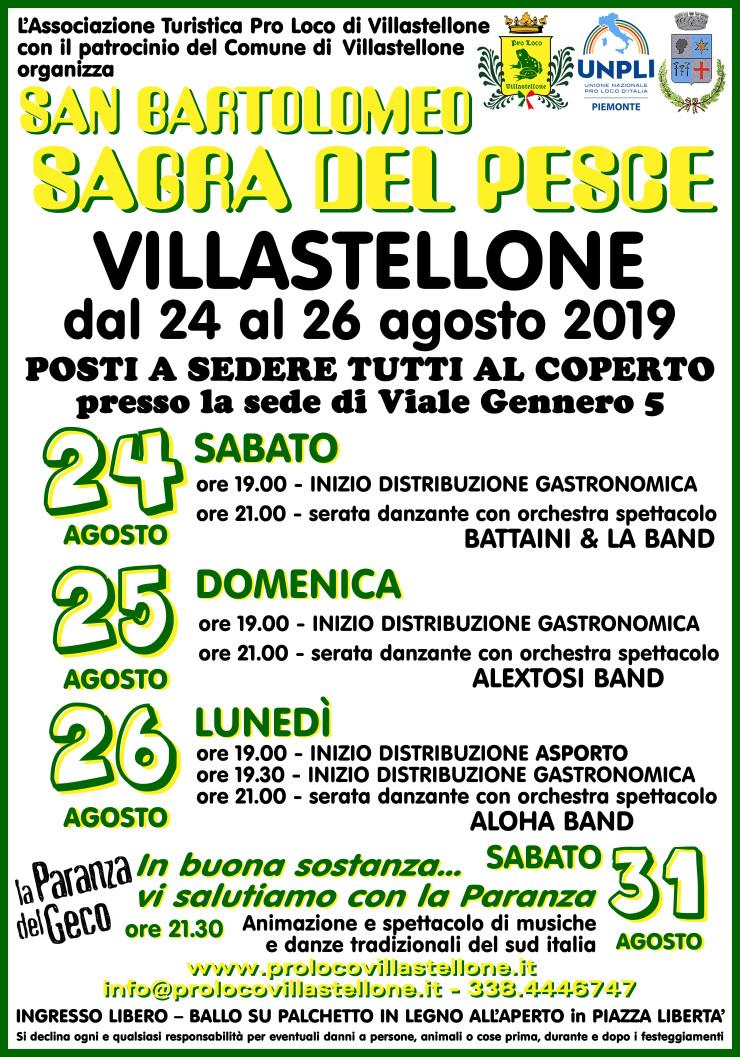 VILLASTELLONE: Festa di San Bartolomeo e Sagra del Pesce 2019