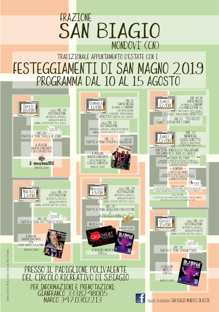 MONDOVI': Festa di San Magno 2019 a San Biagio