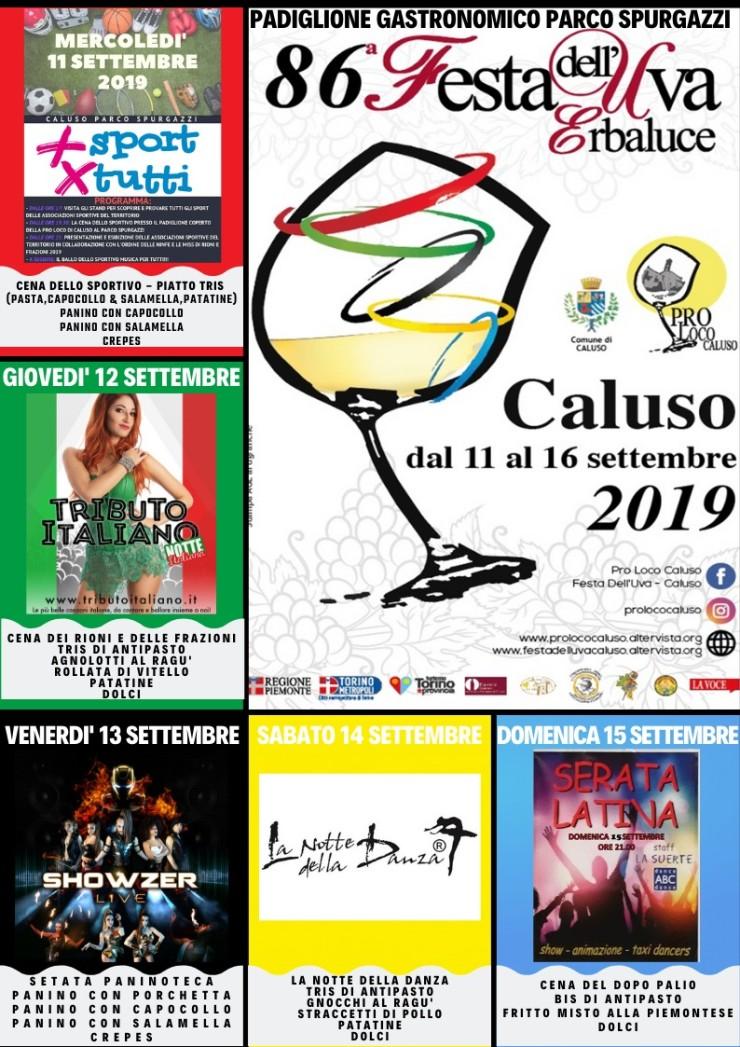CALUSO (TO): Fiera dell'uva Erbaluce 2019
