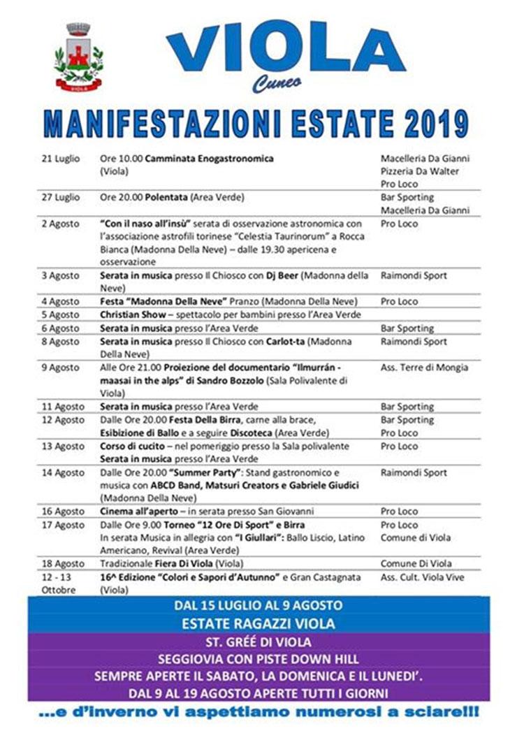 VIOLA: Viola Estate 2019